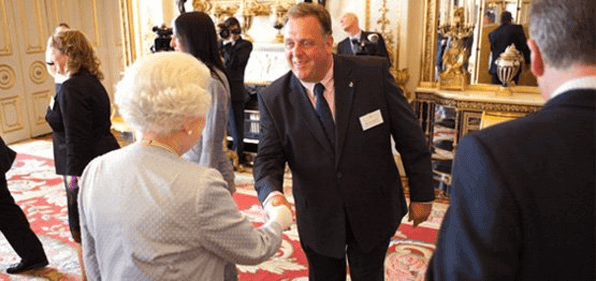 Queen meeting Andy Thorne