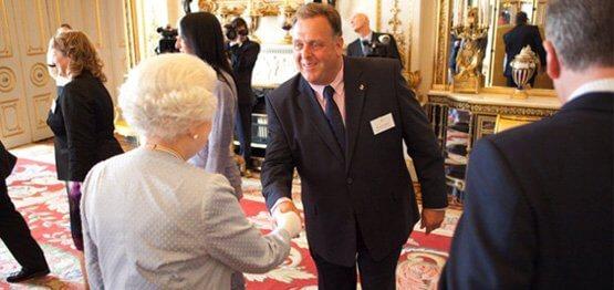 Photo of Kestrel C.E.O. meeting the Queen