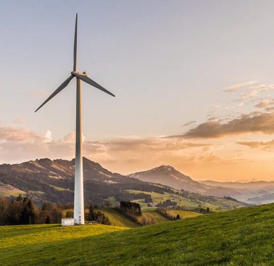Photo of a wind turbine