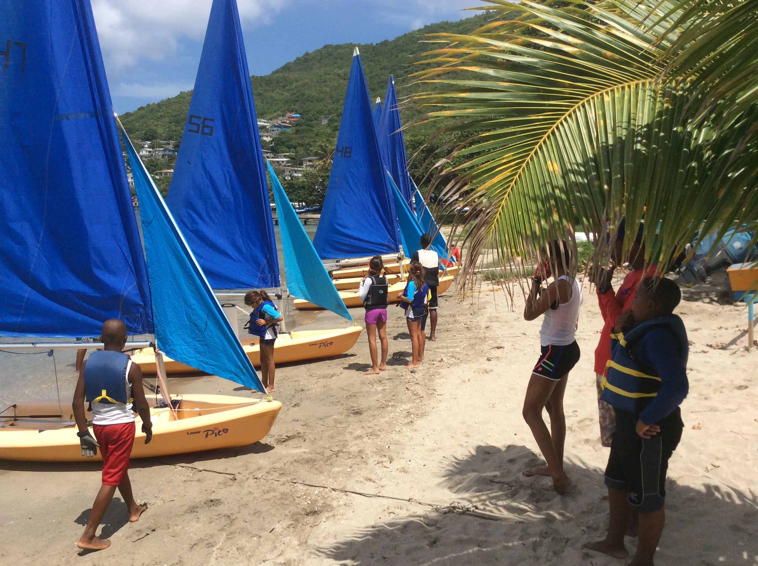 Bequia Junior Sailors - The boats have arrived!